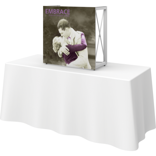 Embrace 2.5ft Square Tabletop Push-Fit Tension Fabric Display
